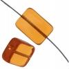 Glass Bead Bricks 16x12mm Topaz - Strung